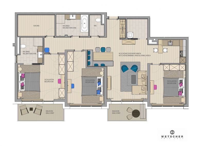Apartment for 6-8 persons approx. 129 sqm