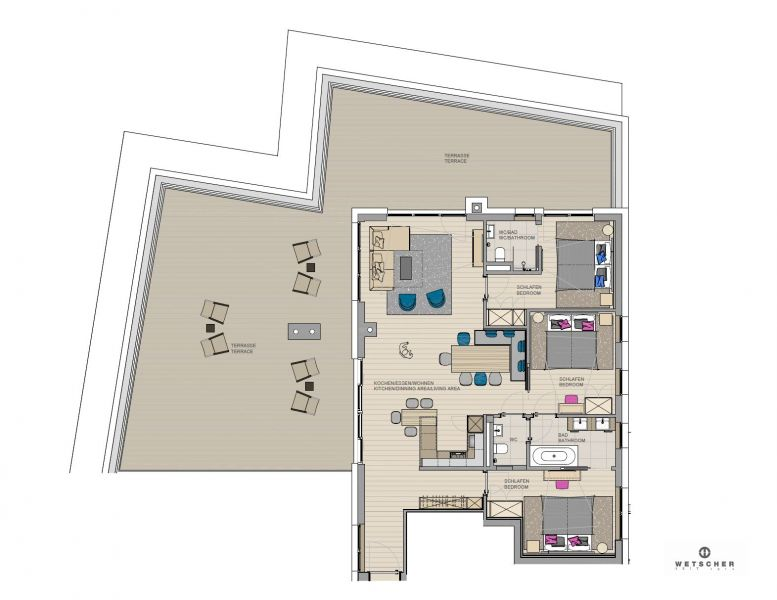 Apartment for 4-6 persons approx. 105 sqm