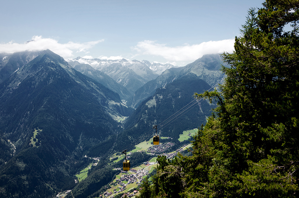 Summer in Mayrhofen on the mountains in the Zillertal, Tyrol