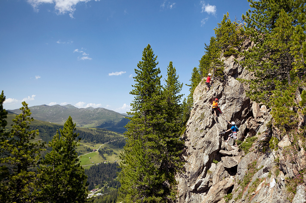 Climbing in Mayrhofen in the Zillertal, Tyrol