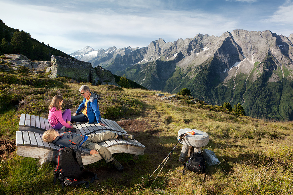 Hiking in the Zillertal mountains and the nature reserve of the Zillertal valley