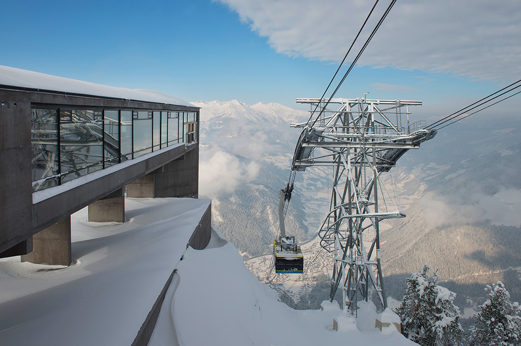 The Ahorn lift in Mayrhofen in the Zillertal